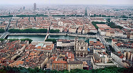 Lyon, with the old city in the foreground