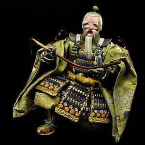 Doll ( musha-ningyo ) featuring Takenouchi-No-Sukune, minister of the emperor Ojin
