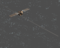 MARSIS 2nd antenna boom locked into straight position ESA217866.tiff