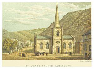 Saint James, Jamestown - Jamestown in 1875