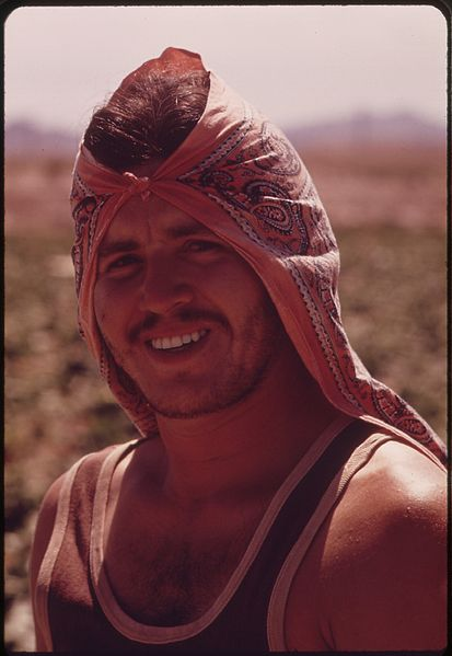 File:MEXICAN FARM WORKER IN THE IMPERIAL VALLEY. HE CARRIES A GREEN CARD WHICH PERMITS HIM TO WORK ON U.S. FARMS - NARA - 549080.jpg