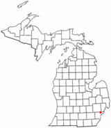 Location of Highland Park, Michigan