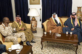 Walter E. Gaskin - Major General Gaskin, CG of MNF-W meeting with local Sheiks of Al Anbar Province, Jan 2008.
