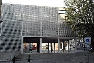 Maastricht Academy of Fine Arts - The extension of Maastricht Academy of Fine Arts by Wiel Arets at Herdenkingsplein