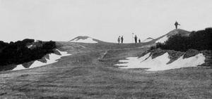 Alister MacKenzie - 1915 photograph of the 2nd hole of the Headingley Golf Club near Leeds, designed by MacKenzie.