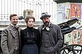 Madame Nobel - film set Vienna May 2014 Birgit Minichmayr Sebastian Koch Philipp Hochmair 2.jpg