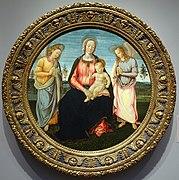 Madonna and Child with Two Angels, by Francesco Granacci, 1495, tempera on wood - Portland Art Museum - Portland, Oregon - DSC09030.jpg