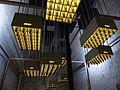Mahou, cajas de cerveza en el techo, Madrid, España, 2015.JPG