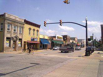 Hobart, Indiana - Main Street in downtown Hobart