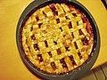 Mainzer Torte aprikotiert - Mainz pie glazed with apricot jam.JPG