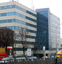 The CdN-NDG Borough Hall, adjacent to the Décarie Expressway.