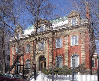 Golden Square Mile - Herbert Molson House. Designed by architect Robert Findlay in 1912.