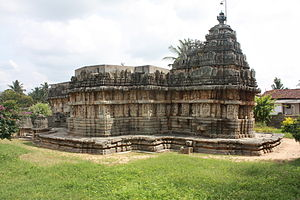 Basaralu - The Mallikarjuna temple at Basaralu, Mandys district, Karnataka state, India