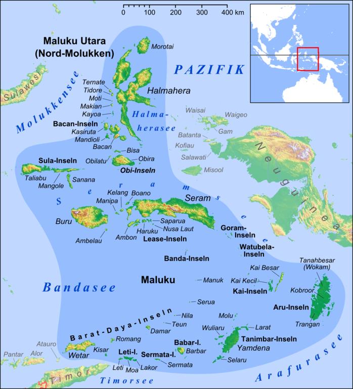 Maluku Islands Google Map