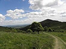 Panorama primaverile delle colline Malvern