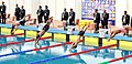 Man Swimmers at the final round of 200 meter swimming, at 12th South Asian Games-2016, in Dispur, Guwahati on February 06, 2016.jpg