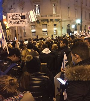 Israeli–Palestinian conflict (2015–2016) - Pro–Israel rally in Paris, 18 October 2015