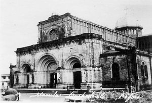 Manila Cathedral - Manila Cathedral before the 1945 Allied Bombing of Manila