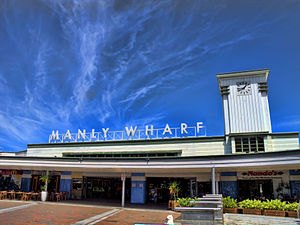 Manly ferry wharf - The Esplanade entrance in February 2012