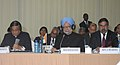 Manmohan Singh addressing the Plenary Session of IBSA Summit, at Pretoria, South Africa. The Union Minister for External Affairs, Shri S.M. Krishna and the Union Minister for Commerce & Industry and Textiles.jpg