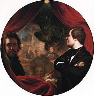 The Valentine - Mann S. Valentine and the Artist, oil on canvas, William James Hubard, 1852. Collection of the Valentine