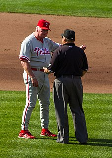 Appeal play attention to an infraction in baseball