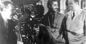 Lucas Demare - Lucas Demare between the screenwriters Homero Manzi (right) and Ulyses Petit de Murat (1942)