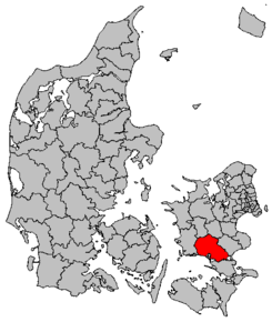 Kart over Næstved