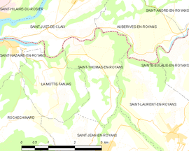 Mapa obce Saint-Thomas-en-Royans