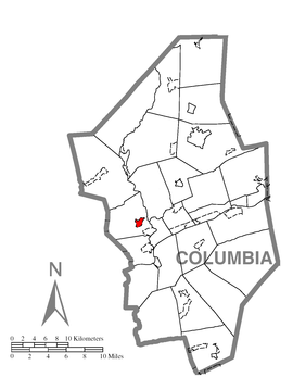 Map of Buckhorn, Columbia County, Pennsylvania Highlighted.png