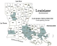 Map of Creole-Speaking Parishes in Louisiana.JPG