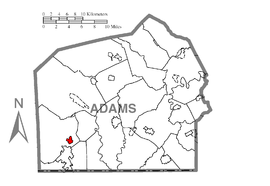Map of Fairfield, Adams County, Pennsylvania Highlighted.png