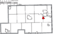 Map of Mahoning County Ohio Highlighting Poland Village.png