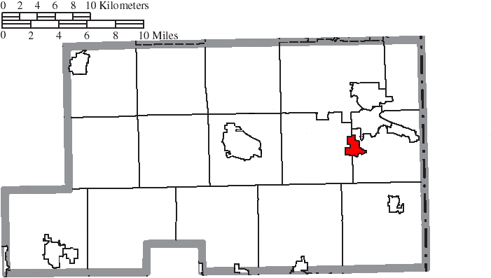 Location of Poland in Mahoning County