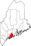 Map of Maine highlighting Lincoln County.svg