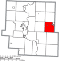 Map of Muskingum County Ohio Highlighting Union Township.png