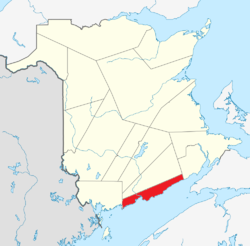 Map of New Brunswick highlighting Saint John County.png