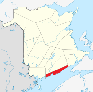 Saint John County, New Brunswick - Image: Map of New Brunswick highlighting Saint John County