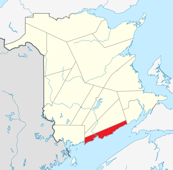 فائل:Map of New Brunswick highlighting Saint John County.png