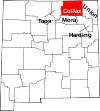 State map highlighting Colfax County