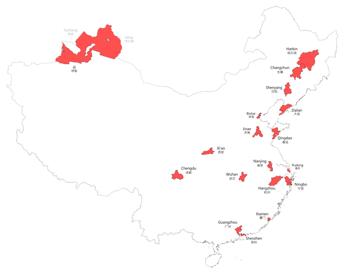 Map of Sub-provincial level entries in the People's Republic of China.png