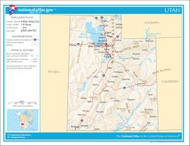 Karte von Utah