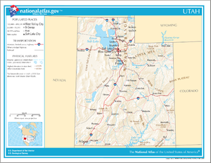 Outline of Utah - An enlargeable map of the state of Utah