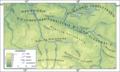 Mapa części Niziny Śląsko Łużyckiej i Wału Trzebnickiego.png