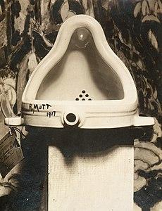 Marcel Duchamp, 1917, Fountain, photograph by Alfred Stieglitz