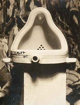Found object - Marcel Duchamp, Fountain, 1917. Photograph by Alfred Stieglitz