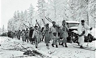 Battle of Raate Road - Finnish soldiers on Raate Road