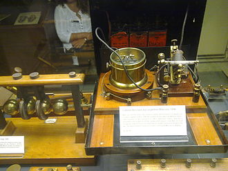 Museum of the History of Science, Oxford - An early radio receiver in the Museum, made by Guglielmo Marconi.