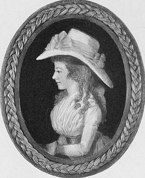 Maria Edgeworth - Miniature of Edgeworth by Adam Buck, c. 1790