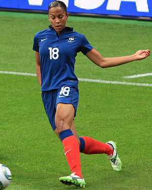 Marie-Laure Delie - Delie playing for France in the 2011 FIFA Women's World Cup